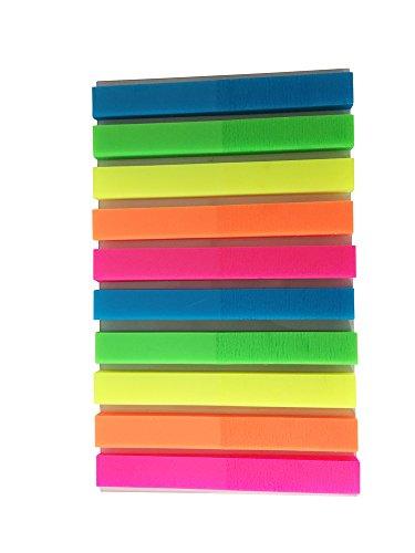 Haftmarker Film, 400 Blatt, 2 x 5 Farben, grün, blau, pink, gelb, orange, Streifenformat: 50 mm x 6 mm