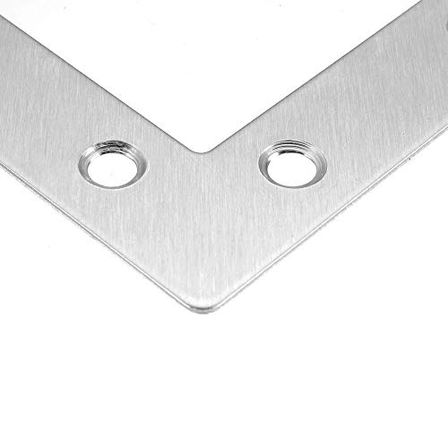 Corner Protector Corner Bracket 8 Pieces 10 Pieces 20Pieces Stainless Steel L-joint 90 Degree Right Angle Fixed Iron Plate with Screws Corner Guard (Color : 40mm x 40mm 8pcs, Size : A)