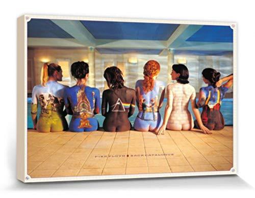 1art1 Pink Floyd - Back Catalogue Cuadro, Lienzo Montado sobre Bastidor (120 x 80cm)
