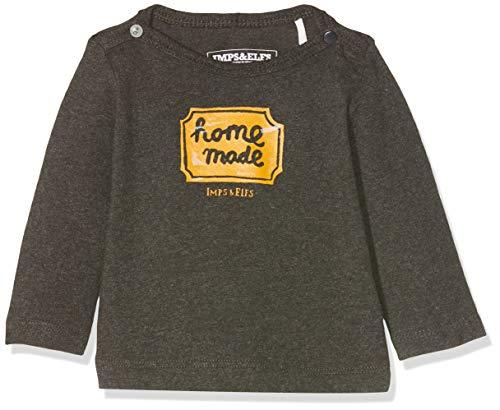 Imps & Elfs Baby-Unisex U Long Sleeve T-Shirt, Grau (Dark Grey Melange P339), (Herstellergröße: 74)