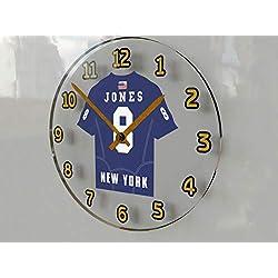 FanPlastic Daniel Jones 8 New York Giants Wall Clock - National Football League Legends Edition !!