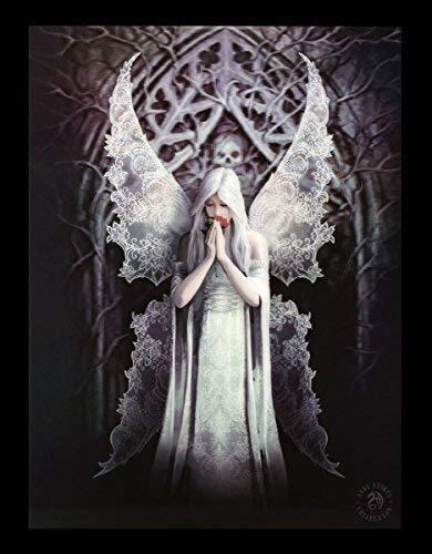 3D Bild mit Gothic Engel - Only Love Remains by Anne Stokes Poster Druck