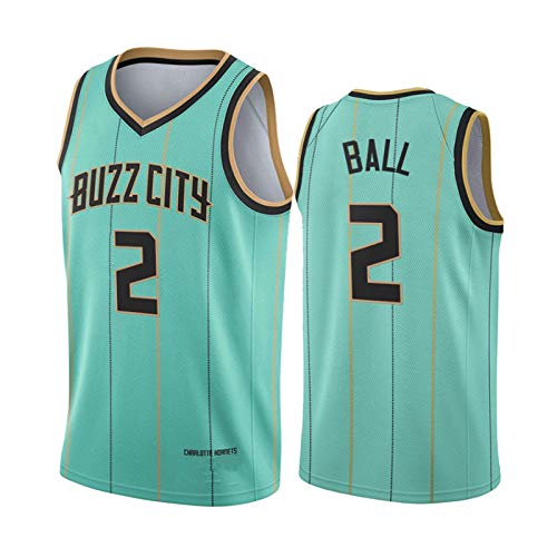 Charlotte Hornets Jerseys, 2 # Balón de baloncesto para hombre, 2020 – 2021 New Season Player Youth Men Retro Retro Classic Team Uniform
