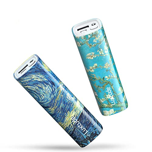 Luxtude 10000mAh Small Portable Charger MyColors, Mini Power Bank with Flashlight, Compact External Battery Pack, Girls Portable Phone Charger for iPhone, Android, iPad, Samsung, etc. (2 Pack 5000mAh)