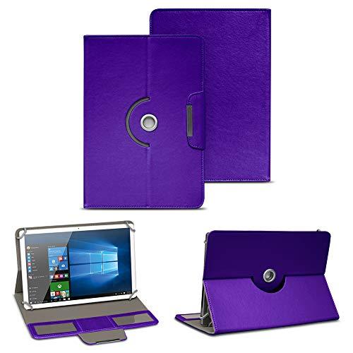 NAUC Tablet Tasche für Blaupunkt Atlantis A10.303 Ständerfunktion Hülle Schutztasche Stand Tasche Etui Cover Universal 10.1 Zoll Hülle Schutzhülle, Farben:Lila