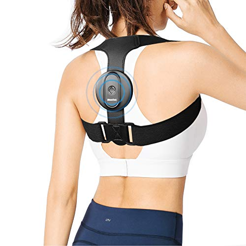"Posture Corrector for Women Girl Men, AhomeTech Smart Posture Back Brace Intelligent Reminder Straightener with Adjustable Breathable Strap Support Pain Relief from Neck, Back and Shoulder M(25""-50"")"