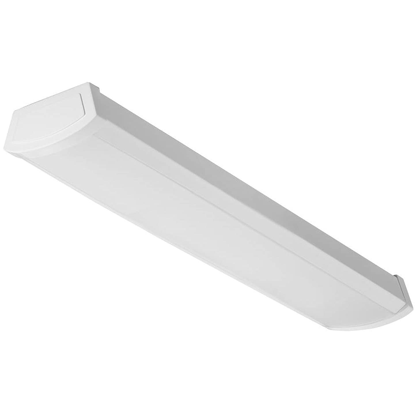 Lithonia Lighting FMLWL 24-Inch 840 Contractor Select 2-Foot Flushmount LED Wrap Ceiling Light for Garage  Home  Basement  1400 Lumens, 120 Volts, 19 Watts, Damp Listed, White