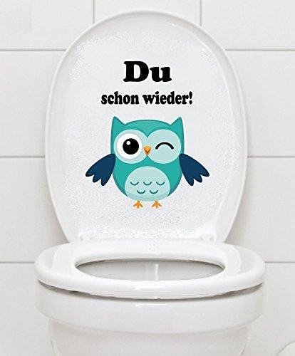 WC Aufkleber - Du schon wieder!- Eule Toilettendeckel A047