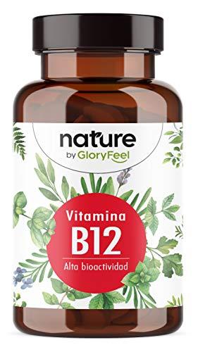 Vitamina B12-200 Pastillas veganas (13 meses) - Formas bioactivas de B12 + Forma de acción prolongada Hidroxocobalamina + Ácido fólico 5-MTHF - Probado en Laboratorio