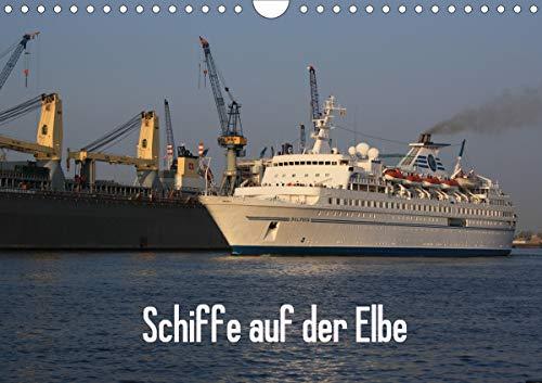 Schiffe auf der Elbe (Wandkalender 2021 DIN A4 quer)