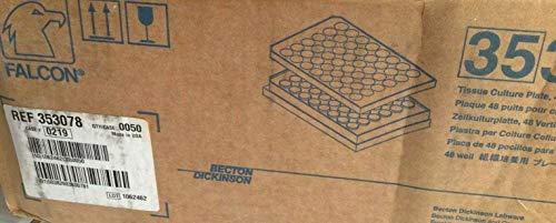 Becton Dickinson Falcon 353078 48 - Microplacas de cultivo de tejidos (50 unidades, selladas)