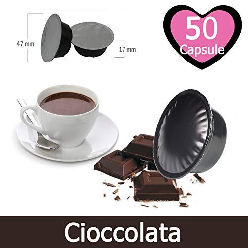 50 Capsule Cioccolata Compatibili Lavazza A Modo Mio - Bevanda Solubile Compatibile con Macchina Lavazza A Modo Mio
