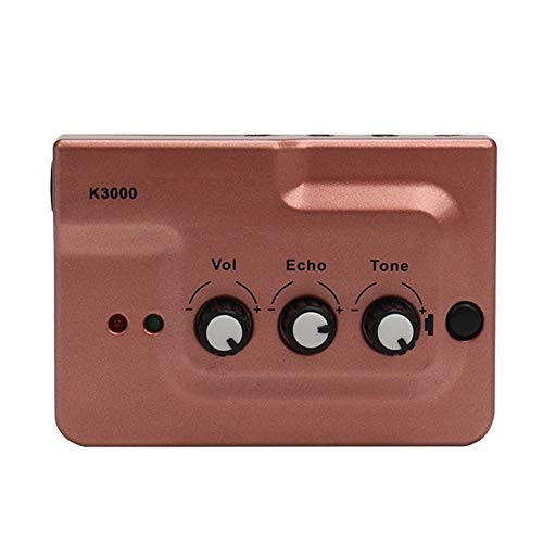 BYTGK Live Broadcast Sound Card Echo Audio Interface Externe Dubbele Microfoon Inputs Plug Play voor Telefoon Video Opname S0325, Rood
