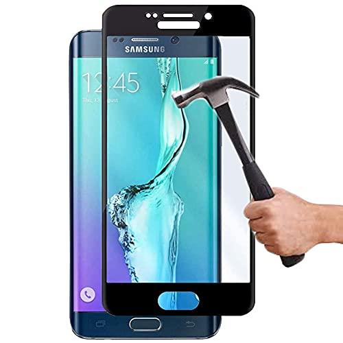 Lapinette Vetro Temperato Integrale Compatibile con Samsung Galaxy S6 Edge Plus - Pellicola Vetro Temperato Galaxy S6 Edge Plus Integrale - 9H Force Glass - Vetro Temperato Copertura Totale