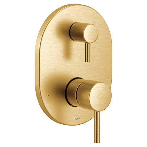 Moen UT3290BG Align M-CORE 3-Series 2-Handle Shower Trim with Integrated Transfer, Valve Required, Brushed Gold