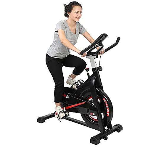 WEUN Bicicletas de ejercicio para interiores para entrenamiento cardiovascular casero, bicicleta estática de fitness vertical con resistencia ajustable con monitor LCD y soporte para teléfono