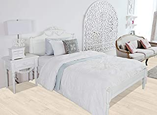 Homes r us Luxury Collection ROSE King Bed 180 x 200 cms, White