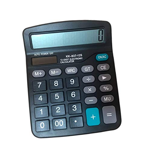 Eurdosmk Standard Function Calculator, Handheld Desktop Calculator with Large Display Big Buttons, Solar Battery Dual Power Scientific Calculator, 12 Digits Basic Calculator for Office, School, Home