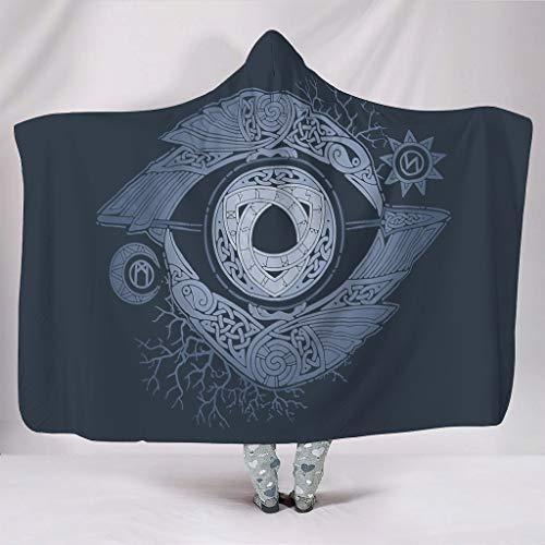 YxueSond ODIN\'s Eye (2) Leichte Mikrofaser große Decke Überwurf für Bett Couch, Polyester, weiß, 50x60 inch
