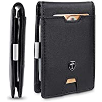 Travando Mens Slim Wallet with Money Clip Austin Rfid Blocking Bifold Credit Card Holder for Men with Gift Box