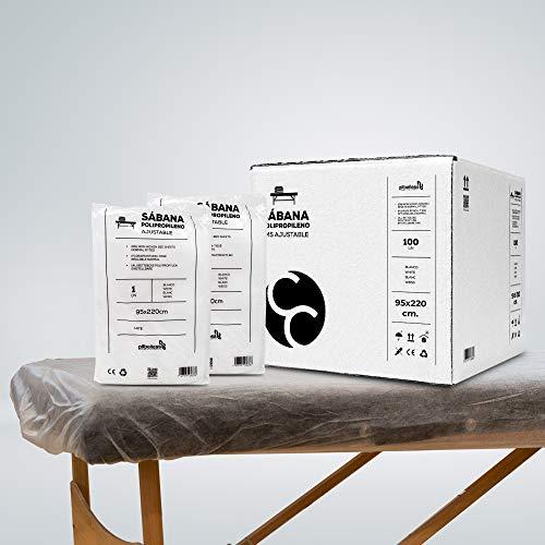 Sábana Desechable SMS Ajustable 95x220 cm   Pack de sábanas desechables para camilla. Pilbelles (10 uds)