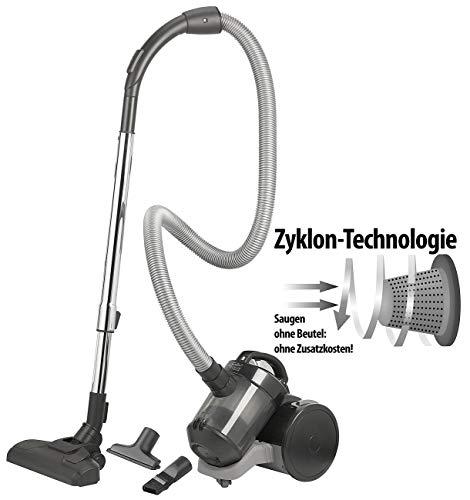 Sichler Haushaltsgeräte Bodenstaubsauger: Beutelloser Zyklon-Staubsauger mit HEPA-Luftfilter, 800 Watt, 2,6 kg (Mini-Staubsauger)