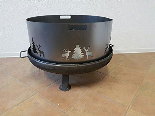 Czaja Stanzteile Funkenschutz mit Wildmotiv für alle Feuerschalen Ø80cm