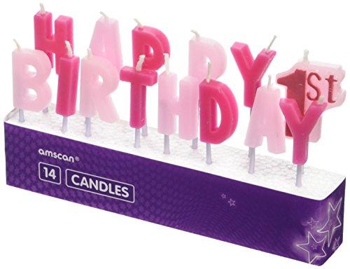 Velas rosas para primer cumpleaños, de AmscanInternational 9900785