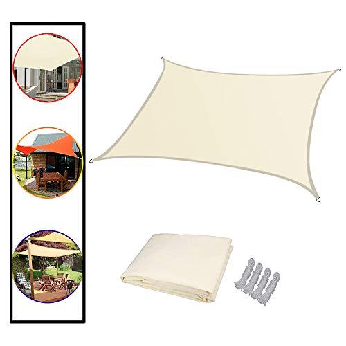 L-KCBTY Shade Sail,sun Shade Sail Canopy,Rectangular-Sunshade Fabric, Waterproof,Sun Sail,for Deck, Patio, Pergola, Backyard Outdoor,with Hardware Kit