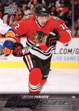 2015-16 Upper Deck Hockey #221 Artemi Panarin Rookie Card – Young Guns