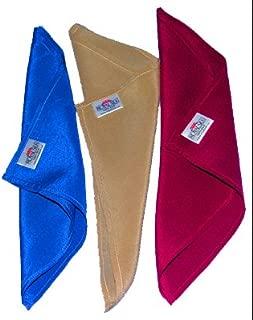 Silk Cleaning Wipes - 100% Silk - Set of Three