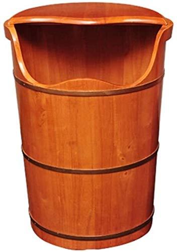 QIANSHI Détails décident la qualité Couvercle thermostatique Bain rehauts Pieds, Bain de Pieds Oak Barrel, Seau Fumigation, Seau à Laver des Pieds en Bois des Pieds, Chaud Partout