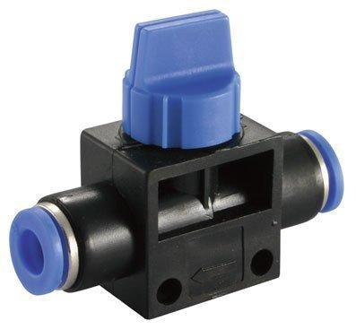 6 mm Stopventil Pneumatik- oder von 6 mm Typ push in (b304)