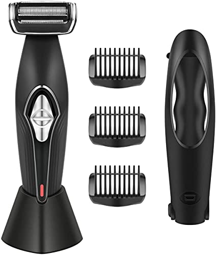 Paomosky Body Groomer for Men Back Shavers with Long & Convenient Handle, Wet or Dry Use &...