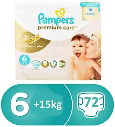 Pampers Premium Care Windeln Giga Pack Extra Groß Größe 6-72 stück