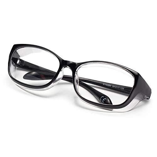 LianSan - Occhiali di sicurezza anti-nebbia, anti-appannamento, anti-appannamento, protezione UV400, per ciclismo, sport e vento, nero, HANAGLASSES