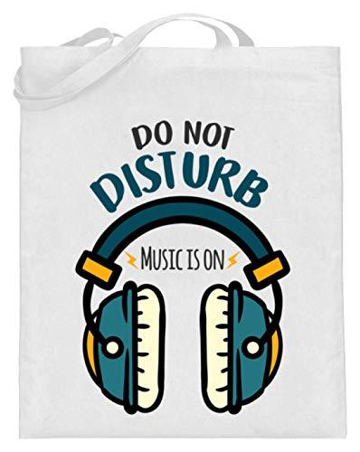 Bitte Nicht Stören, Musik Ist An - Kopfhörer Motiv - Schlichtes Und Witziges Design - Jutebeutel (mit langen Henkeln)