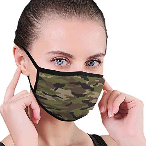 Camouflage Maske wiederverwendbar und bis 90 Grad waschbar - Stoffmasken aus Baumwolle mit Tarnmuster (Military)