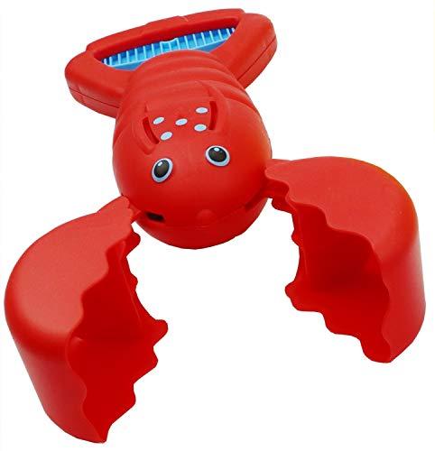 alldoro 60170 Sand Snapper Sandspielzeug, tierischer Handbagger im farbenfrohen Krabben-Design, sortiert in 3 Farben, ideal für den Sandkasten oder den Strand