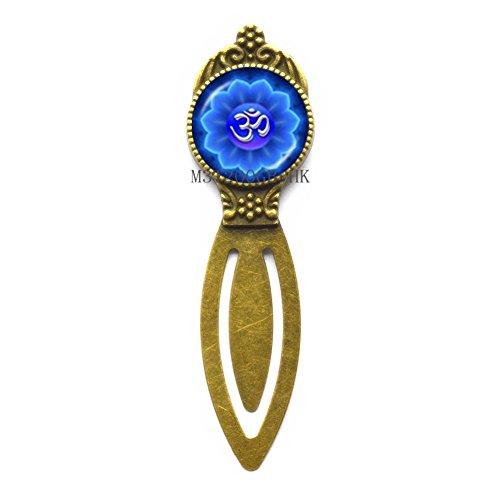 Om Bookmark, Om Symbol Bookmark, Namaste Bookmark, Zen Bookmarker, Yoga Jewelry, Buddhist Jewelry-MT001 (W2)