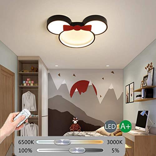 Cartoon Deckenleuchte Kinderzimmerlampe LED Disney Maus Baby Deckenlampe Modern Acryl Lampeschirm Rot Schmetterling Lampe Für Mädchen Junge Zimmer Schlafzimmer Fernbedienung Dimmbar Kronleuchter