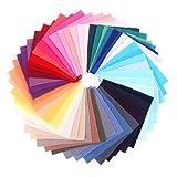 VALICLUD Tela para Coser 50 Uds 10X10cm Cuadrados de Tela de Algodón Color...
