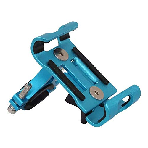 HJKLL Aluminum Alloy Mobile Phone Holder, Mountain Bike/Electric Bike/Motorcycle Navigation Mount, Cycling Accessories, Suitable for Most Mobile Phones on The Market
