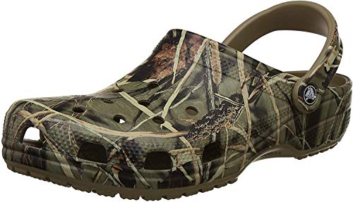 crocs Classic Realtree Clog | Camo for Men and Women Khaki 7