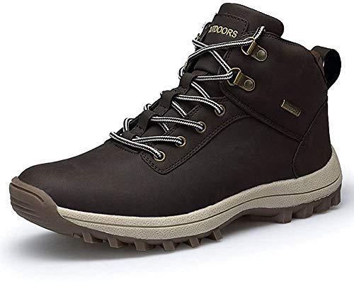 happygo! Herren Trekking Wanderstiefel Wasserdicht rutschfeste Wanderschuhe Outdoor Stiefel Sneaker Boots Braun 45