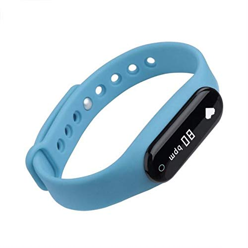 Smart Watch IP68 Waterproof Fitness Tracker for Women Girl Smart Band 1.08inch Fitness Bracelet with Heart Rate Sleep Monitor, Calorie Counter (Blue, Strap Length:260mm)