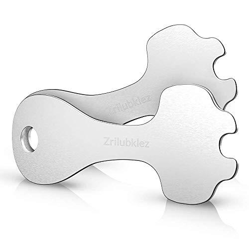 Zrilubkrelz® 2 Einkaufswagenlöser aus Metall | 2er Pack | Sofort abziehbarer Schlüssel | Kein Steckenbleiben im Schloss | Einkaufswagen Schlüsselanhänger Einkaufswagenchip Einkaufschip chip Tool