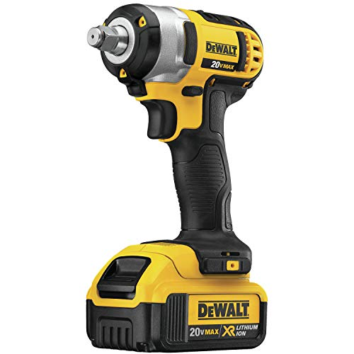 DEWALT 20V MAX Cordless Impact Wrench Kit with Hog Ring, 1/2-Inch (DCF880HM2)