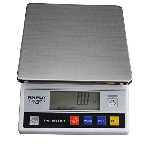 Balanza de precisión Báscula digital 7.5 Kg/0.1g Báscula electrónica de laboratorio (7500 g, Precisión 0,01 g, 4 Funciones, cambio de unidad, 18 x 18cm, Pantalla LCD)