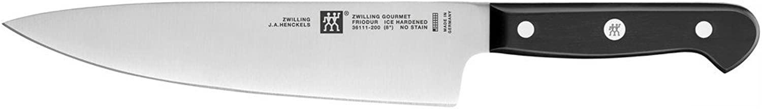 ZWILLING J.A. Henckels ZWILLING Gourmet 8  Chefs Knife,Black Stainless Steel